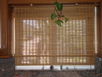ROLLER CURTAINS NATURAL WOOD